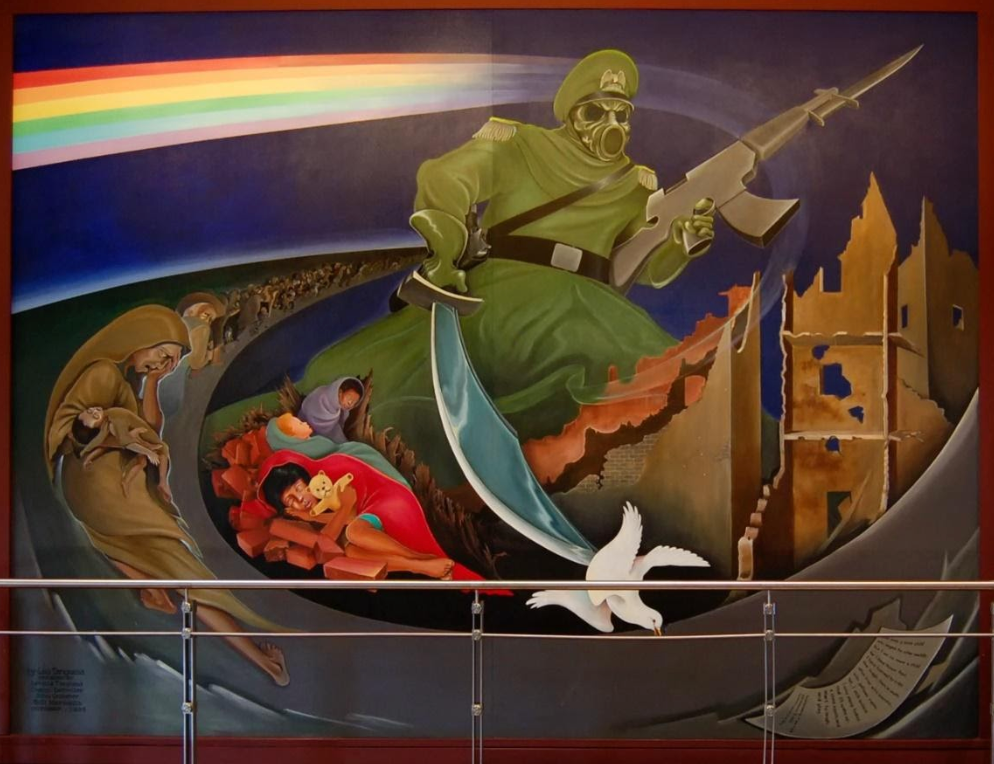 Maschere, mural nazi en el aeropuerto de denver