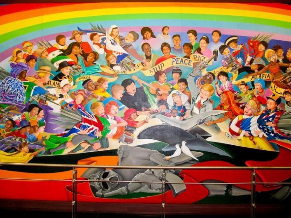 Invocación de la Paz mural en el aeropuerto de  Denver