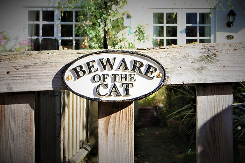 Beware of the Cat Sign