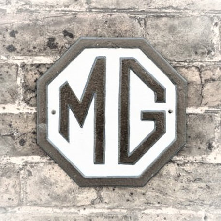 MG Cast Metal Sign
