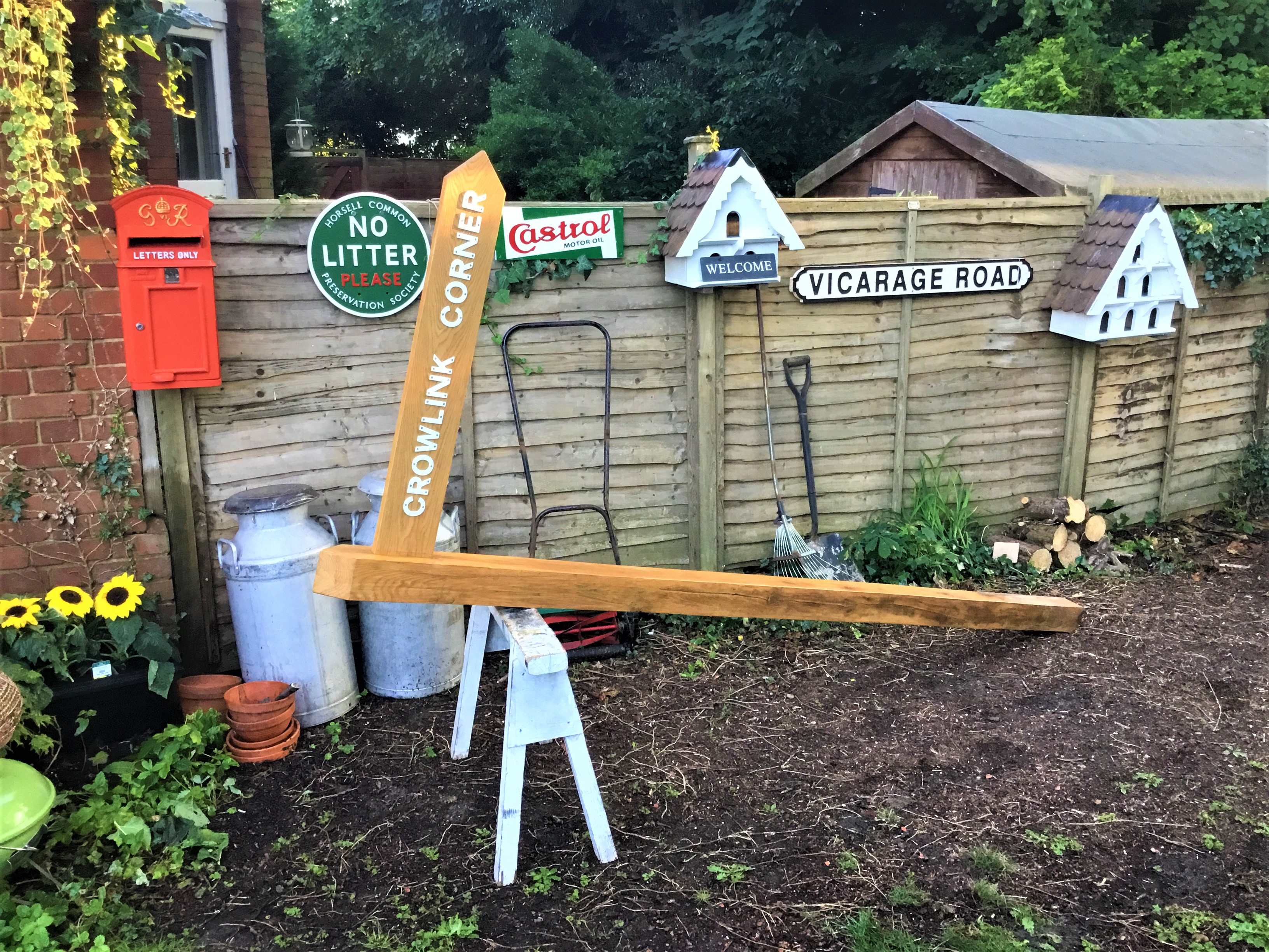 Our Hand Crafted Seasoned Oak House Sign