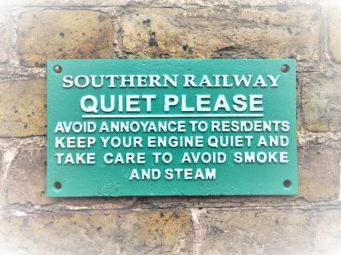 Southern Railway Cast Metal Sign