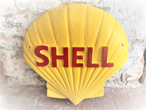 Large Cast Iron Shell Sign