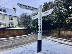 Our Betchworth Winter Finger Post Sign 1
