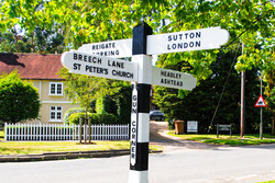 Large Photo of Our Suery Green Vinatge Finger Post Sign