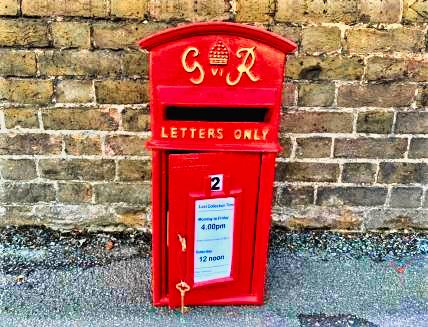 cast iron royal mail post box george vl