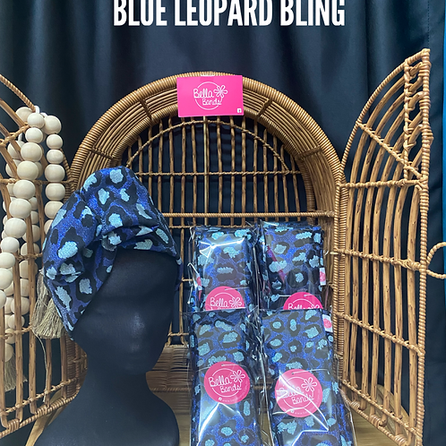 Blue leopard bling