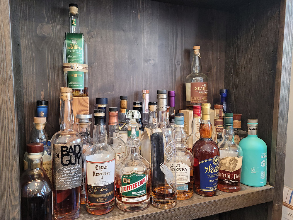 A highly curated selection of whiskeys and other spirits, with a heavy emphasis on unique, highly sought after and rare American bourbons.