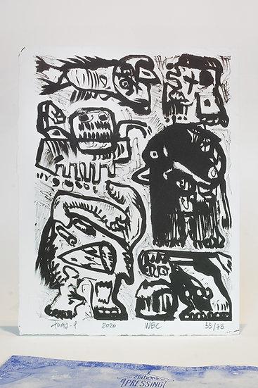 WHITE BLACK NO COLOR // Lithographie + Catalogue d'exposition