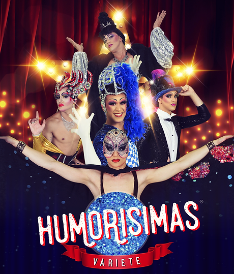 Afiche promocional del espectáculo Humorisimas Varieté