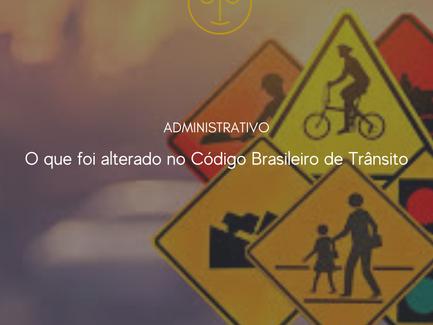 O que foi alterado no Código Brasileiro de Trânsito: