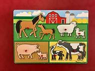 Jeu d'encastrement sur le thème des animaux de la ferme