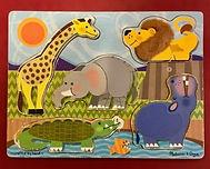 Jeu d'encastrement sur le thème des animaux d'Afrique