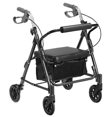 Andador 4 Rodas com Assento e Cesto