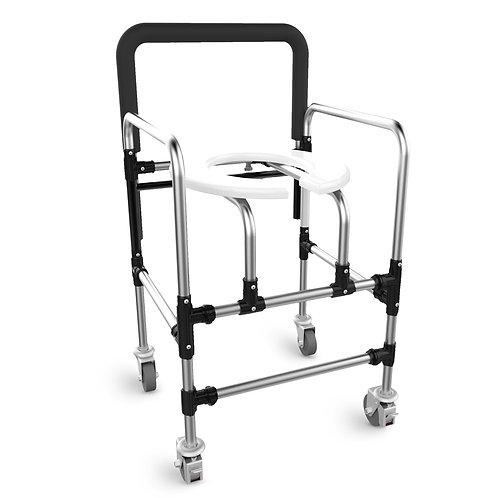 Cadeira de banho dobrável em alumínio