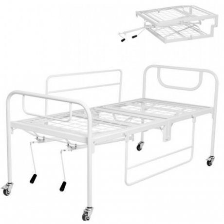 Cama Hospitalar Dobrável 2 Movimentos Manual