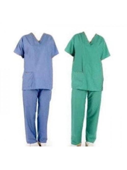 Conjunto de Pijama Cirúrgico Calça e Blusa Tecido
