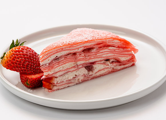 Strawberry Mille-Crêpe Cake (Slice)