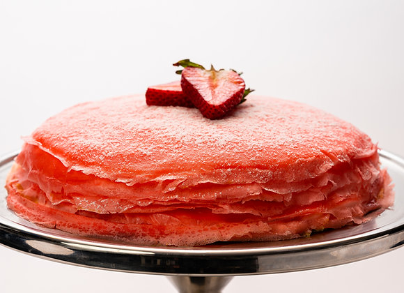 "Strawberry Mille-Crêpe Cake (9.5"" Whole Cake)"