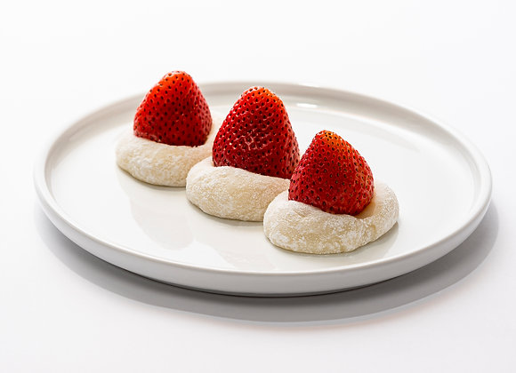 Strawberry Red Bean Mochi (3 pcs)