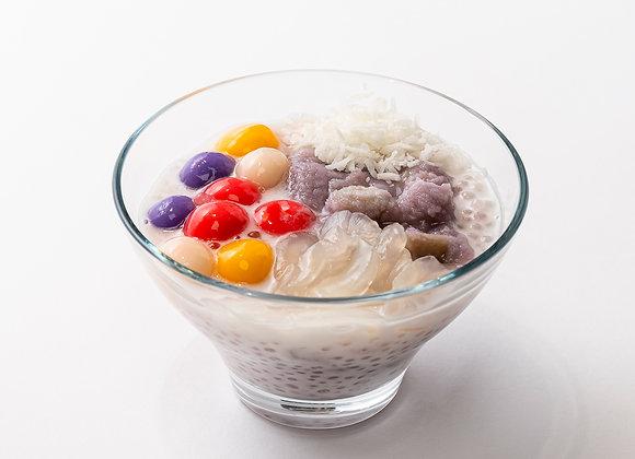 Taro Coconut Sago Rainbow Mochi