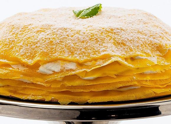 "Celebration Mango Mille-Crêpe Cake (9.5"" Whole Cake & Ida's Cookies)"