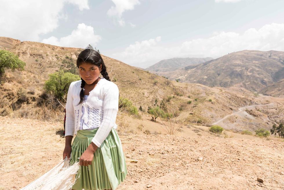 Indigenous Girl in Bolivia