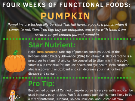 4 Weeks of Functional Foods Digest #1