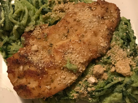 Anti-InflammatoryComfort Food: Chicken Parm withCreamy Pesto Pasta