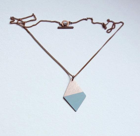 Geometrische Kette Trapez Mint, roségoldfarben