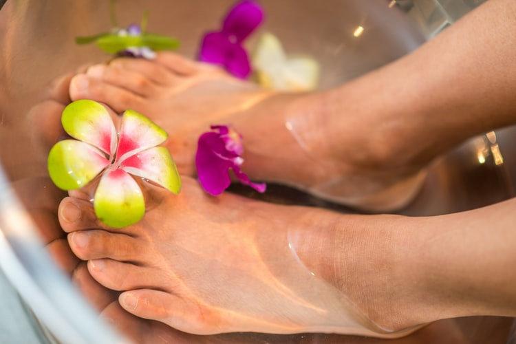 Swedish foot massage