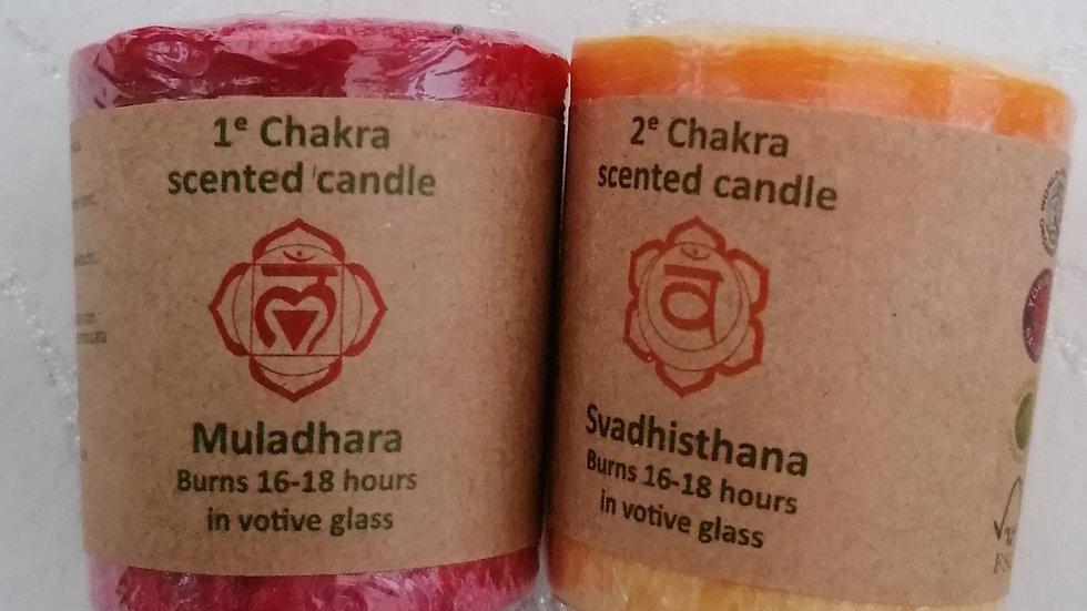 7 Chakra Essential Oil Votive Candle Set
