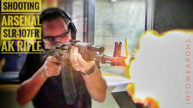 Arsenal SLR-107FR AK Rifle at the range