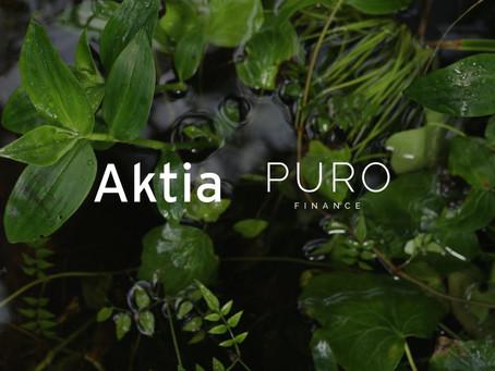 Aktia Pankki ja PURO Finance yhteistyöhön