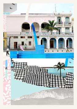 Ice cream Plaza print