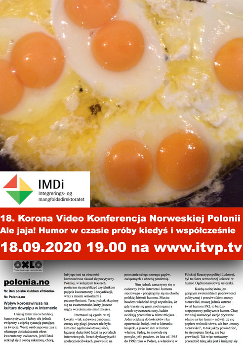 18. Korona Video Konferencja Norweskiej Polonii - Ale jaja! Humor w czasie próby kiedyś i współcześn