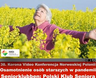 Poczucie osamotnienia wśród polskich seniorów w Norwegii w dobie zagrożenia koronawirusem.