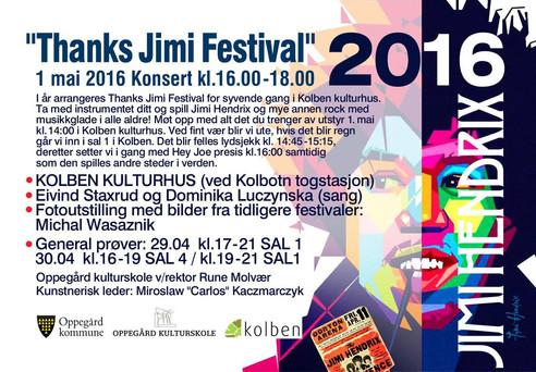 """""""Thanks Jimi Festival 2016"""" – Mirosław """"Carlos"""" Kaczmarczyk zaprasza"""