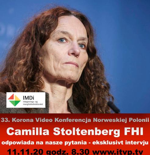 Konferencja Polonii z Dyrektorem FHI Camillą Stoltenberg 11-go listopada 2020