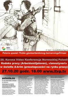 28. Korona Video Konferencja Norweskiej Polonii Kodeks pracy (Arbeidsmiljøloven), «lønnstyveri» w św