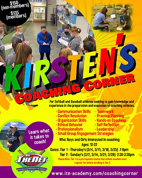 Coaching Corner Flyer Social with Tiers.