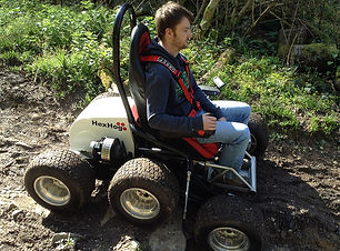 A disabled user rides a HexHog