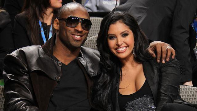 Kobe Bryant and his wife
