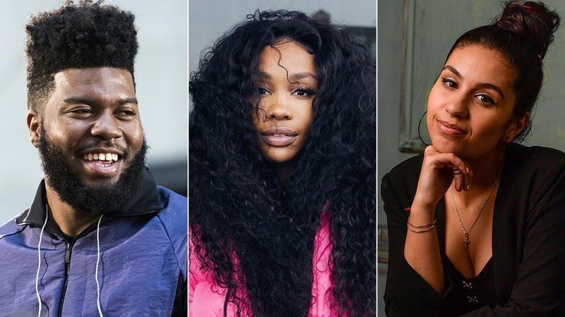 Khalid, SZA, and Alessia Cara (from left to right)