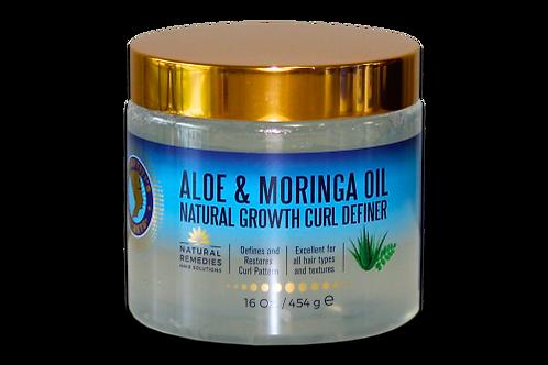 Aloe & Moringa Oil Natural Growth Curl Definer 16oz