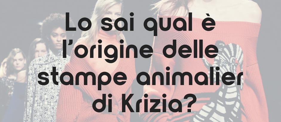 Lo sai qual è l'origine delle stampe animalier di Krizia?