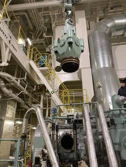ME maintenance for Exhausr valve of Royal Midori