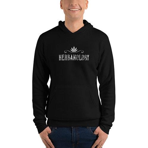 Unisex hoodie BL w/ white text