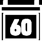 """Takvim yaprağı üzerinde """"60"""" sayısı çizimi"""