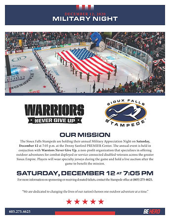 Stampede Military Appreciation Night on
